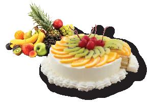 เคกวานิลลา Vanilla Cake with Fruit
