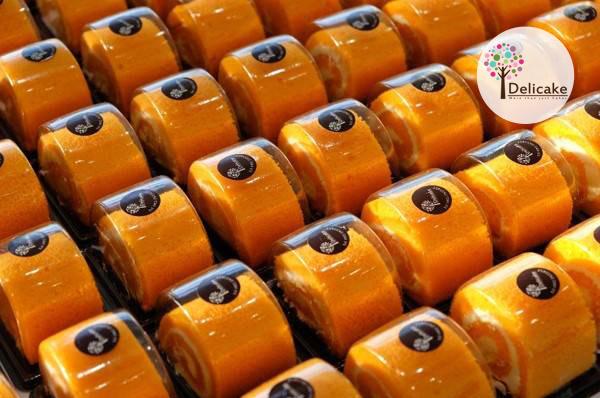 Snack Box เมนูโรสญี่ปุ่นส้ม Orange Roll Cake